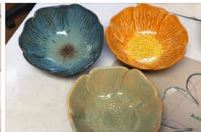 picture of clay flower bowls